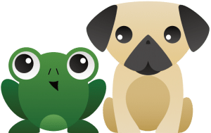 frog and dog logo